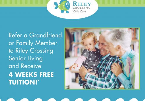 refer to riley crossing senior living and save